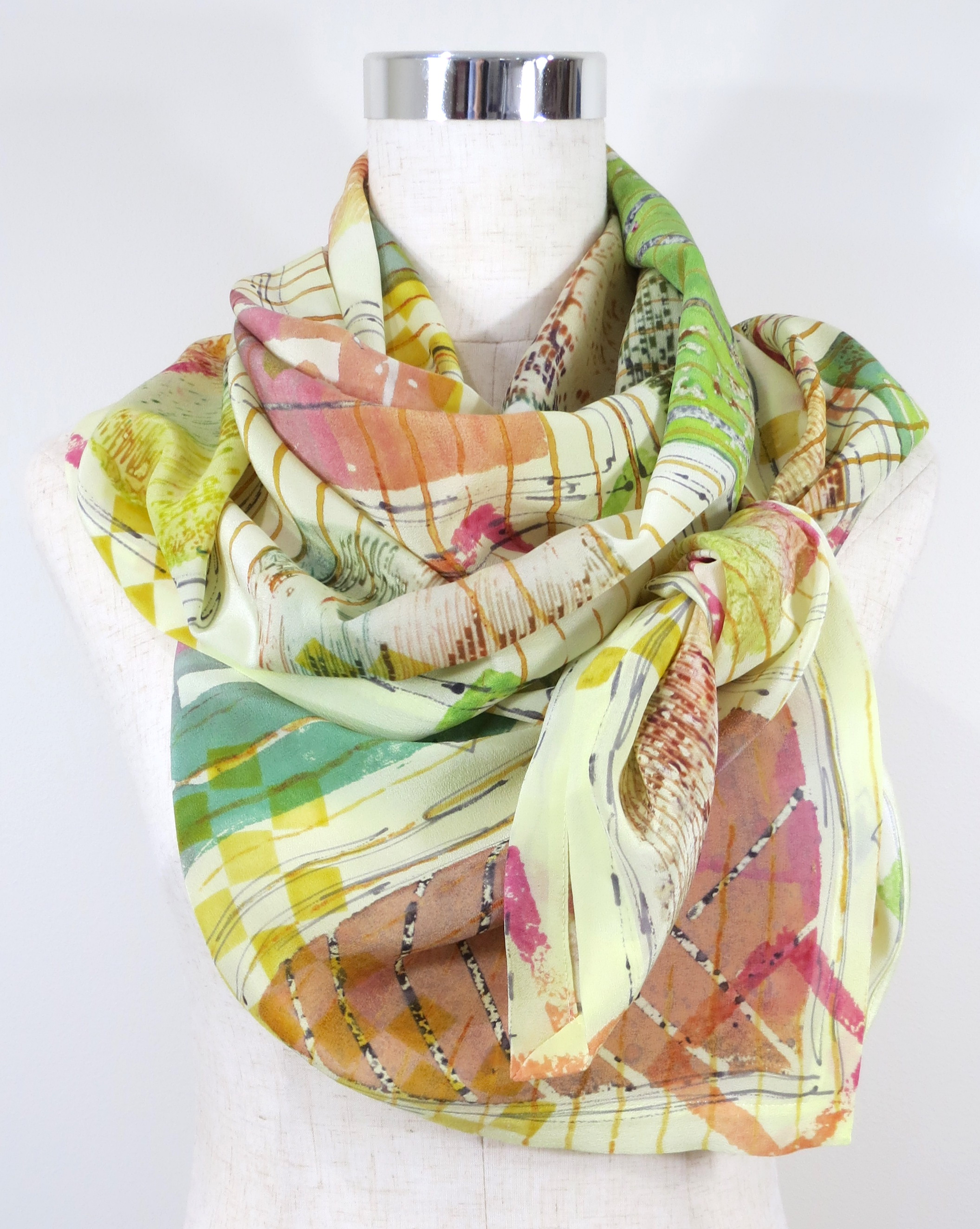 Hand dyed Scarf LN55