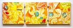 Citrus, 16in X 49in X 1.5in, Copyright Linda Neel